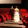 les mariés dans une salle de cinéma (Paris, 75)
