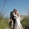 couple de mariés dans les dunes de Dunkerque (59)