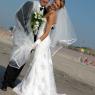couple de mariés sur la plage de Dunkerque (59)