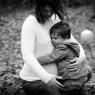 Sonia enceinte et son enfant