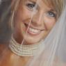 portrait de la mariée sous son voile