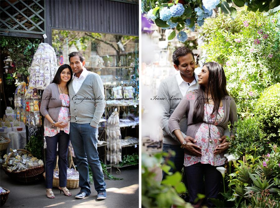 homme et femme au marché aux fleurs Paris