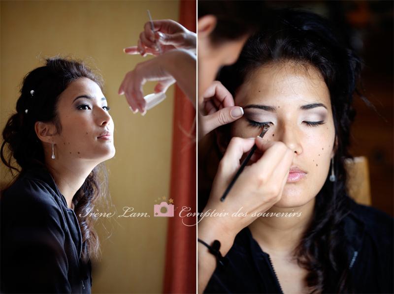 maquillage de la future mariée