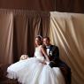 couple de mariés dans la salle du mariage (Seine et marne)