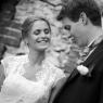 photo noir et blanc des mariés à Lille 59
