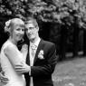 portrait mariés en noir et blanc à Champs sur marne 77